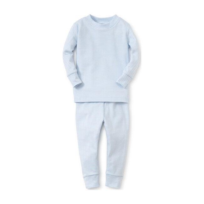 Simple Stripe Pajama Set, Blue