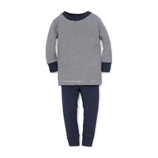 Essentials Striped Pajama Set, Navy