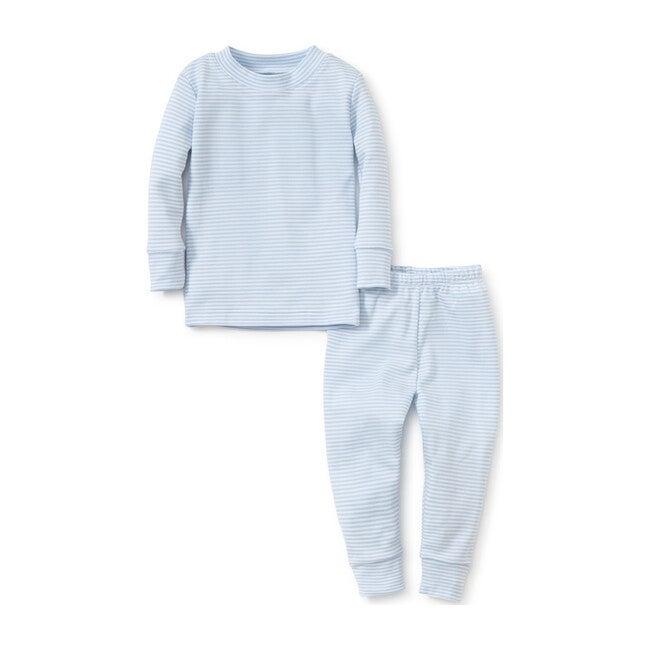 Simple Stripe Pajama Set Large, Blue