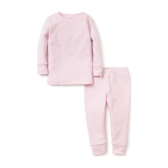 Simple Stripe Pajama Set Large, Pink