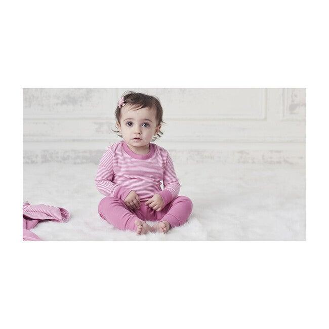 Essentials Striped Pajama Set, Fuchsia
