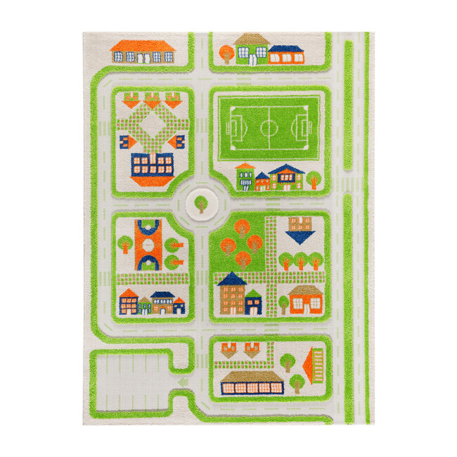 Traffic 3-D Activity Mat, Green Large