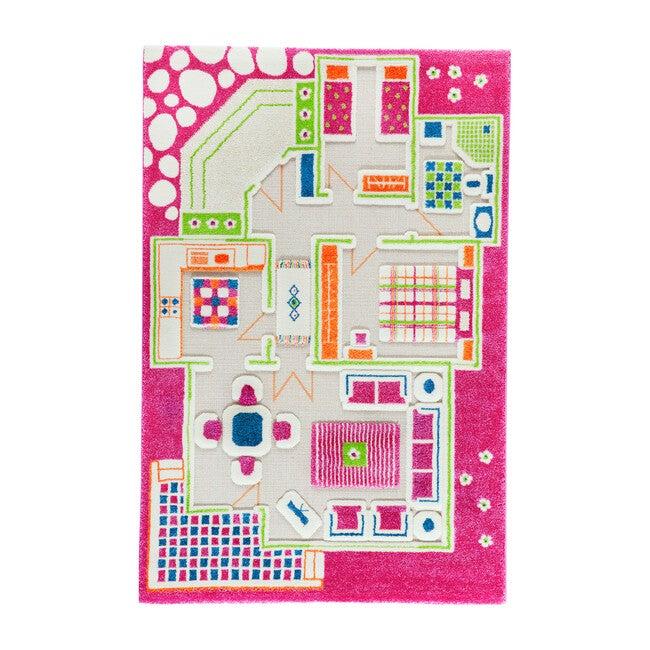 Play House 3-D Activity Mat, Pink Medium