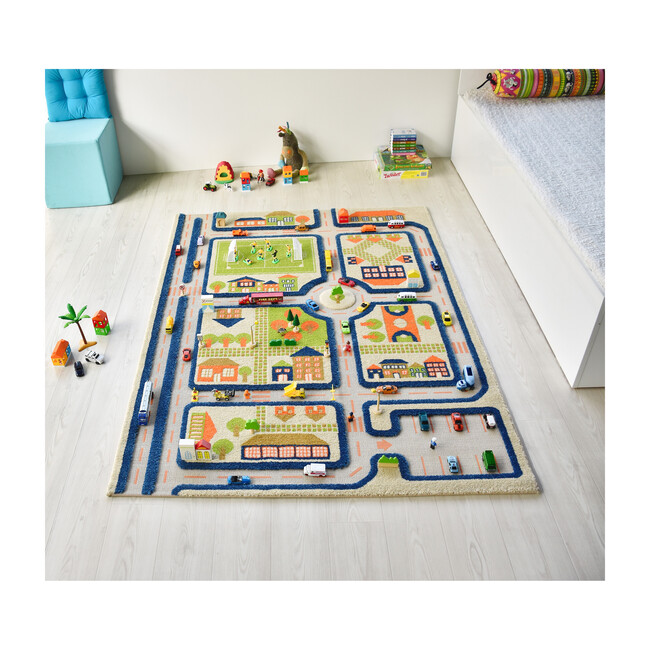 Traffic 3-D Activity Mat, Blue Large