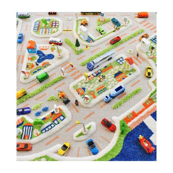 Traffic 3-D Activity Mat, Blue Large