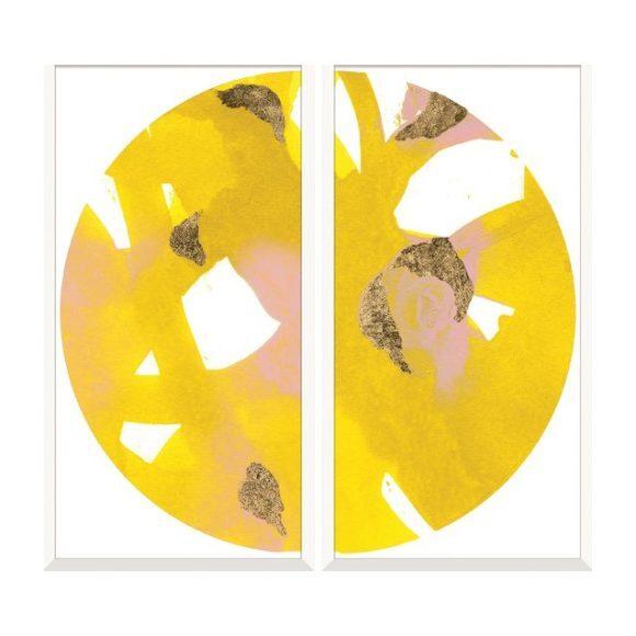 "Malta Globe Diptych: Yellow, 66""x 63"""