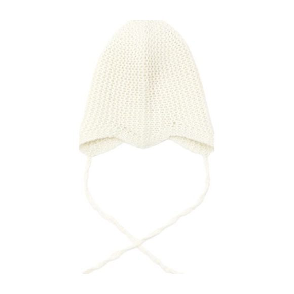 Cashmere Hat With Ties, Winter White