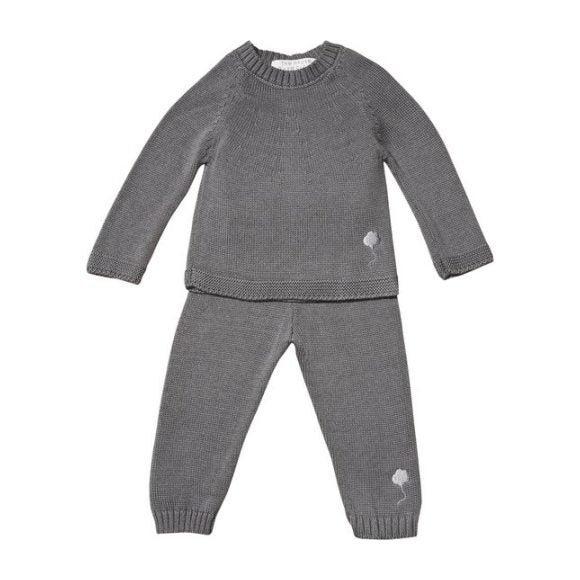 The Neel Travel Suit in Cotton, Cumulus Grey
