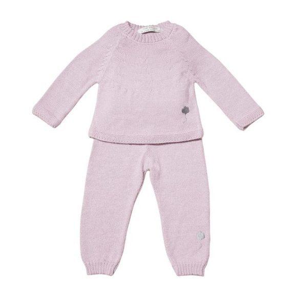 The Neel Travel Suit in Alpaca, Cumulus Pink