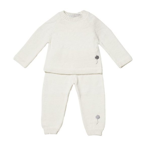The Neel Travel Suit in Alpaca, Cumulus White