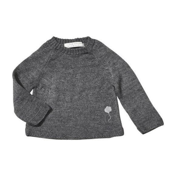 The Neel Sweater in Alpaca, Cumulus Grey