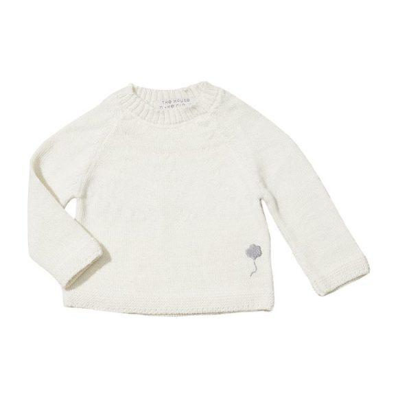 The Neel Sweater in Alpaca, Cumulus White