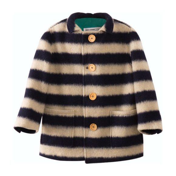 Sheep Skin Jacket, Big Stripes - Jackets - 1