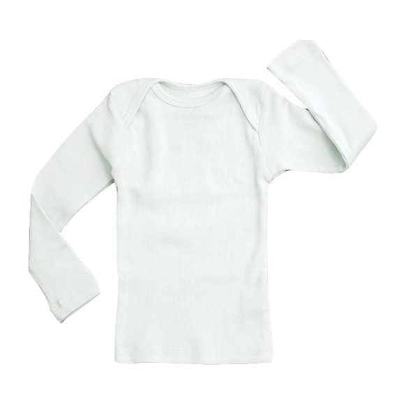 Rib Lap Shoulder Tee Long Sleeve