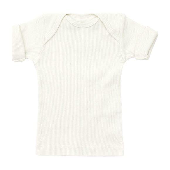 Rib Lap Shoulder Tee Short Sleeve Sand