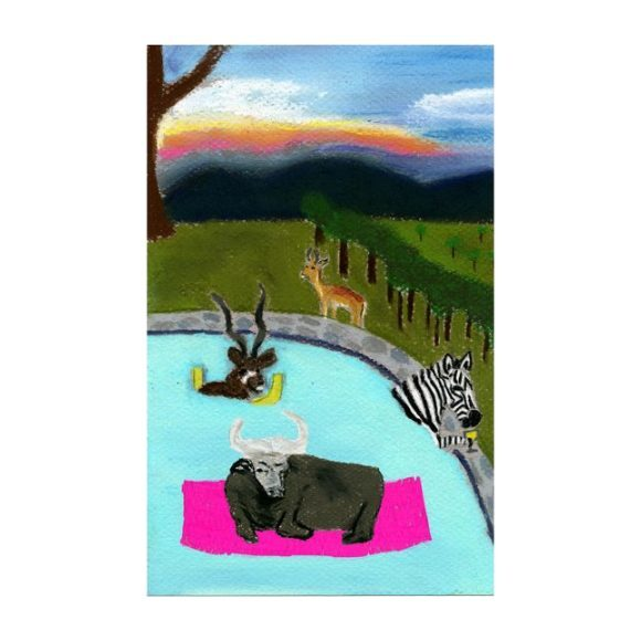 """Pooltime, 10"""" x 7"""""""