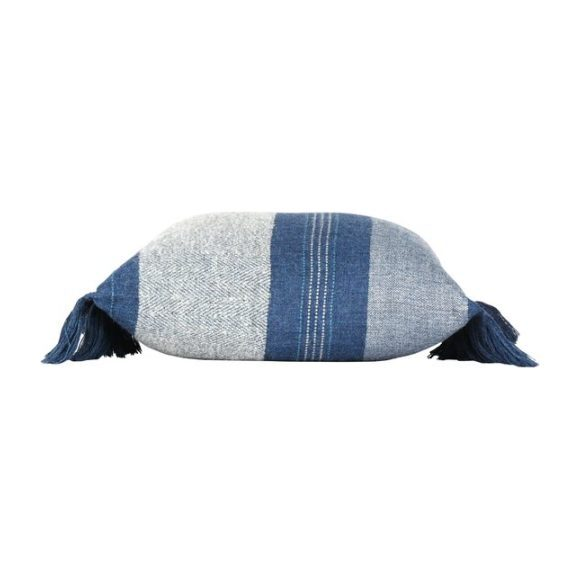 Alpaca Native Pillow, Azul