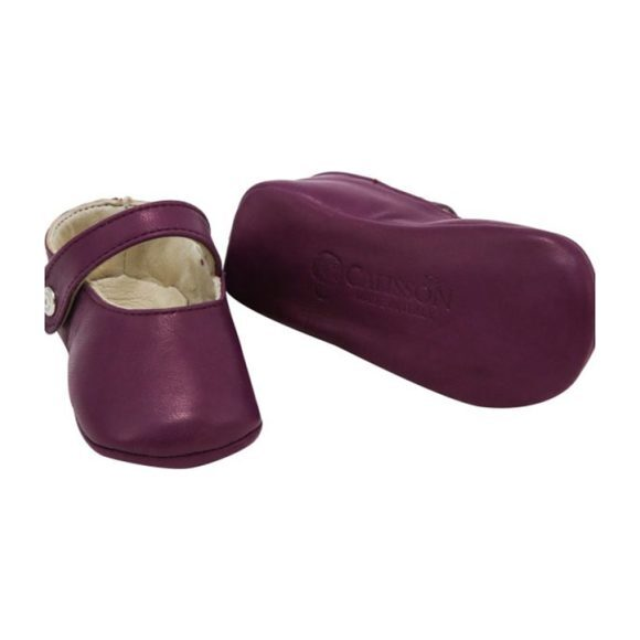 Leather Matilde Booties, Purple