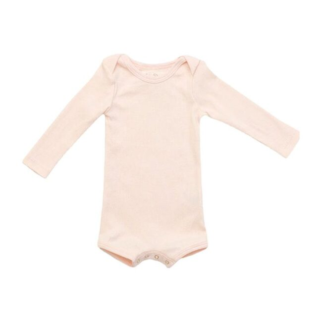 Long Sleeve Crawler with Snaps, Blossom