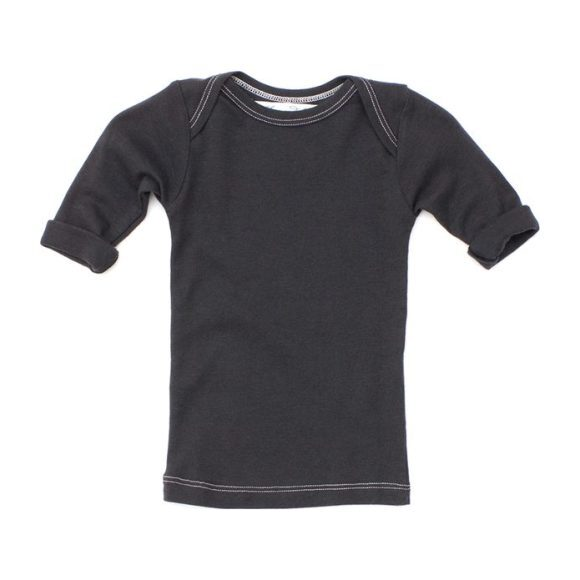 Lap Shoulder Tee Short Sleeve Charcoal