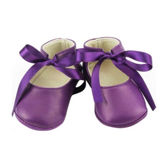 Leather Josephine Booties, Purple