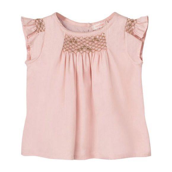 Hana Smocked Top - Blush