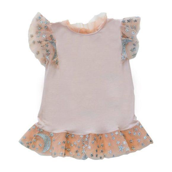 Maya Ruffle Sleeve Top, Pale Blush