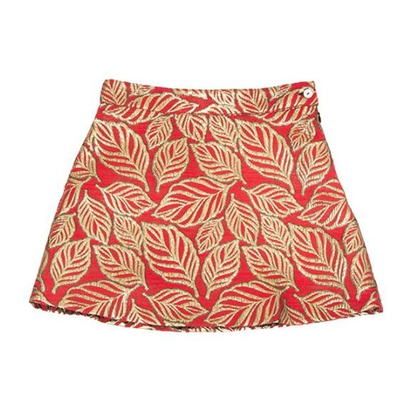 Leaf Skirt, Red