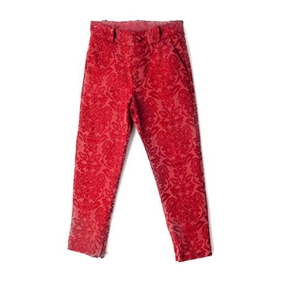 Brocade Gaby Pants, Red