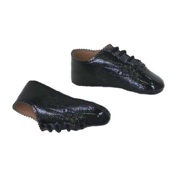 Scallop Baby Shoe 1920, Black