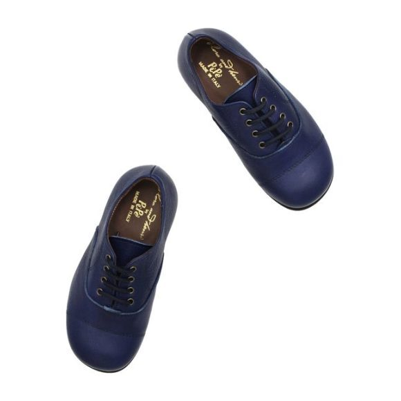 Leather Oxford, Navy