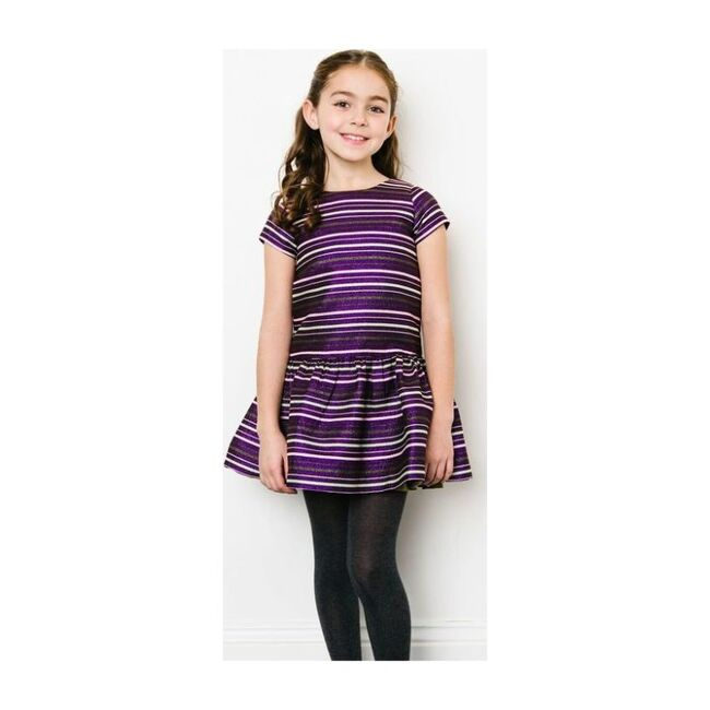 Striped Beverly Dress, Purple