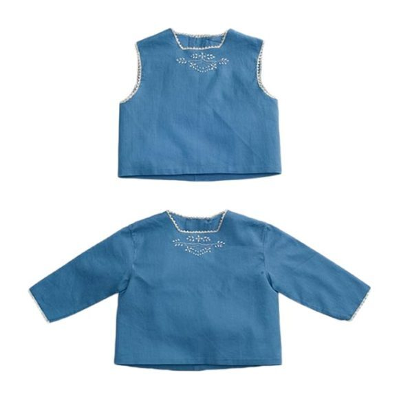 Embroidered Baby Blouse Set