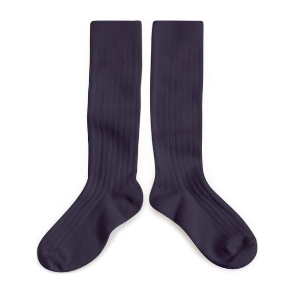 Collegien Knee High Socks, Navy