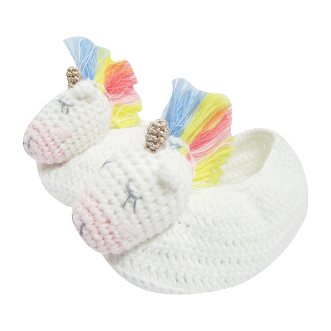 Crochet Unicorn Booties, Multi