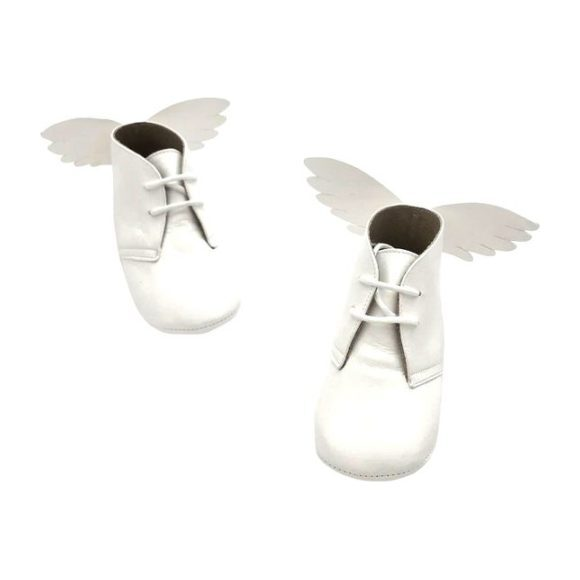 Angel Wing Boot, White - Boots - 1