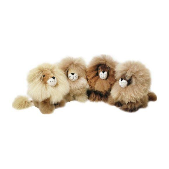 "Alpaca Stuffed Lion, 9"""