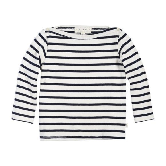 Breton Stripe Top, Natural/Navy