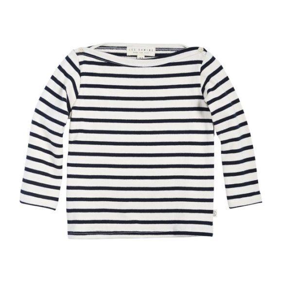 Breton Stripe Top, Natural/Navy