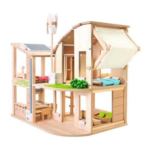 Green Dollhouse w/Furniture