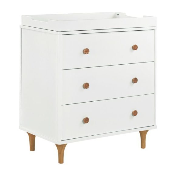 Lolly 3-Drawer Changer Dresser with Removable Changing Tray, White