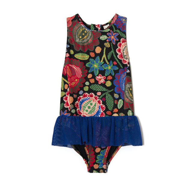 *Exclusive* Tuto Matyo Floral One Piece, Maisonette Blue