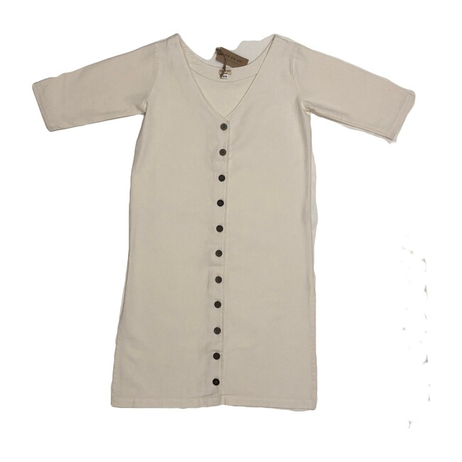 Women's Olivia Cotton Dress, Natural