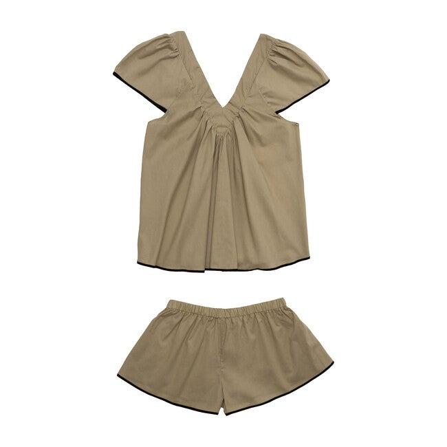 Women's Bianca Pajama Set, Tan