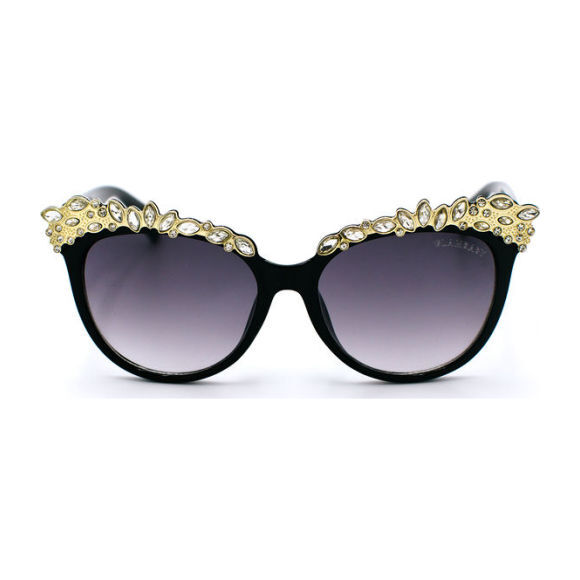 Valentina Frame Sunglasses, Black