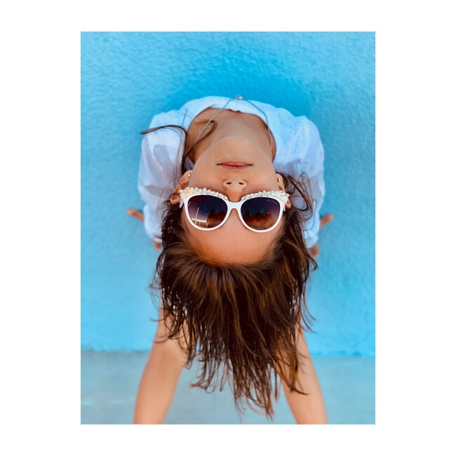 Valentina Frame Sunglasses, White