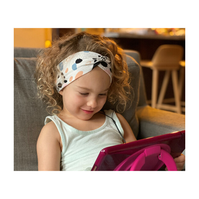 Sound Crowns Knotted Headband Headphones, White