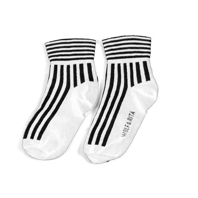 Striped Socks, Ecru