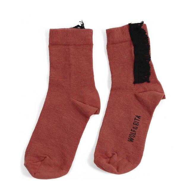 Lace Socks, Orange