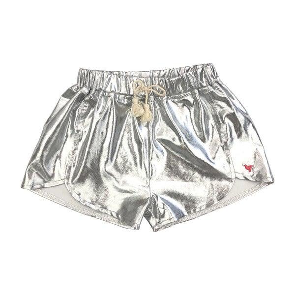 Millie Metallic Short, Silver
